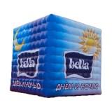 Cube publicitaire gonflable en textile 2 x 2 x 2 m